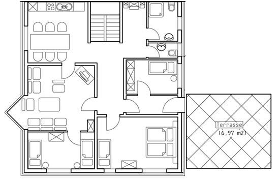 Grundriss Obergeschoss Platte Venn